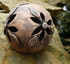 Světýlko Keramická kole, keramické světýlko, keramická dekorace na čajovou svíčku Průměr koule je cca 13 cm