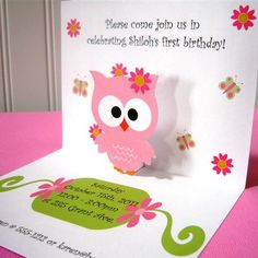 cute owl birthday invitations
