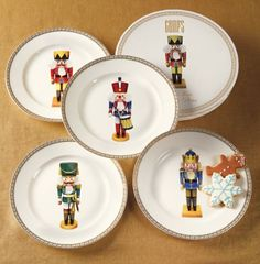 """As early as standing wooden nutcrackers in the form of soldiers and kings were found in Germany and in the term """"Nussknacker"""" ap. Christmas China, Christmas Dishes, Christmas Tea, Christmas 2017, Christmas Holidays, Xmas, Christmas Table Settings, Christmas Tablescapes, Christmas Decorations"""