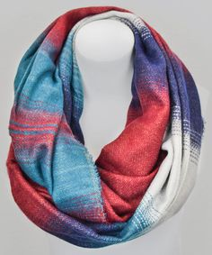 Take a look at this Navy & Red Stitching Accent Infinity Scarf by Leto Collection on #zulily today!