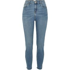 Mid wash high waisted Lori skinny jeans £35.00