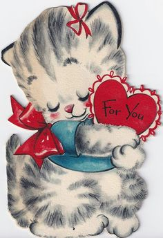 free valentine cards cats