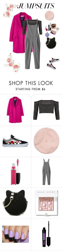 """Chilling sunday #jumpsuit"" by clauxsanchex on Polyvore featuring moda, MANGO, Boohoo, Vans, MAC Cosmetics, WithChic, Betsey Johnson, Bobbi Brown Cosmetics, Benefit y Lolita Lempicka"