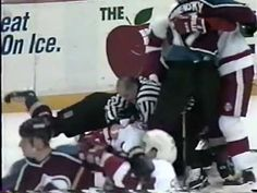 Colorado Avalanche vs. Detroit Red Wings - Best Hockey fight ever!
