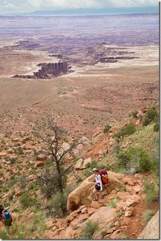 Backpacking in Island in the Sky, Canyonlands.