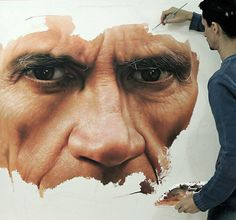 Pic: Fabiano Millani while working on his canvas. @FabianoMillani Born in São Paulo on June 27, 1981, but he was raised in Rio Grande do Sul. Millani started in 2005 his first works on the figurative style, painting several canvases inspired on his daily life experiences. Currently, he paints full time in his studio, located on 1186, Antunes Ribas Street, room 107.