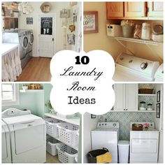 Fun Home Things: 10 Laundry Room Ideas. Because I need a chandelier in my laundry room!