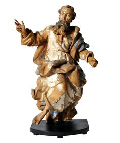 Sculpture Of Saint Peter  Baroque, Wood, Sculpture by The Golden Triangle