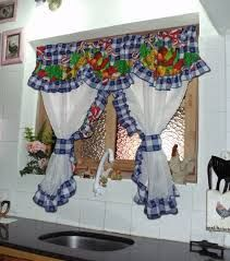cortinas para cocina - Buscar con Google Fancy Curtains, Country Curtains, Drapes Curtains, Valances, Kitchen Blinds, Kitchen Curtains, Cortinas Country, Playground Flooring, Drapery Designs