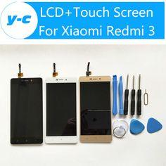 Xiaomi redmi 3 için lcd ekran + dokunmatik ekran için yeni geldi paneli değiştirme xiaomi redmi 3 1280x720 hd 5.0 inç