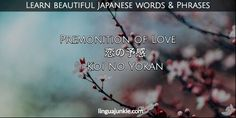 For Learners: 50 Beautiful Japanese Words & Phrases Pt. Beautiful Japanese Words, Beautiful Words, Koi No Yokan, Japanese Phrases, Third World Countries, When You Are Happy, Future Love, Japanese Language, Love Words
