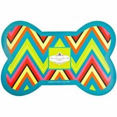 Jonathon Adler Chevron Dog Bowl Mat from Just a Touch of Everything