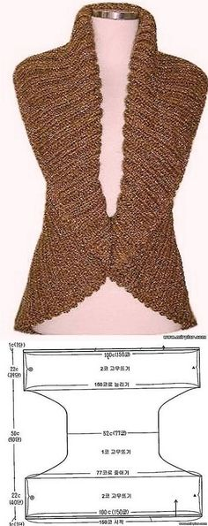 New crochet shrug outfit free knitting 16 Ideas Crochet Mittens Pattern, Knit Vest Pattern, Crochet Shawl, Knit Crochet, Knitting Patterns, Crochet Patterns, Pull Crochet, Mode Crochet, Free Knitting