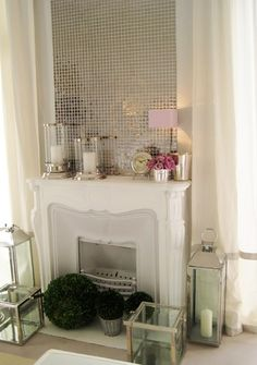 such a SMART way to add a touch of glamour/art to your space