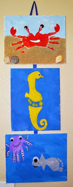 The Keeper of the Cheerios: Summer and Sea Hand and Footprint Craft