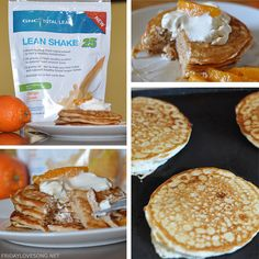 Protein Creamsicle Pancakes With GNC Lean 25 GNCTreatYourself Shake Recipes Foods