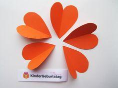 Blumen aus Papier basteln: Anleitung für die Kindern Kids Pages, Craft Tutorials, Sprinkler Party