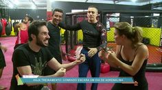 Conrado Caputo passa um dia como dublê da Globo