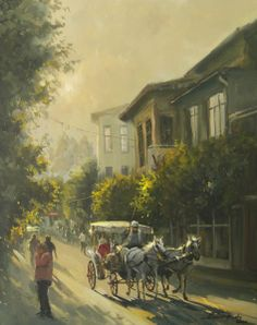 Turkish Art, Painting Inspiration, Orient Express, Amazing Art, Istanbul, Fantasy Art, Beautiful Pictures, Watercolor, Artwork