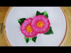 Hand Embroidery: Blanket Stitch & Button Hole Stitch - YouTube