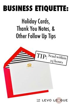 Business Etiquette for Thank-You Notes, Office Gift-Giving & More