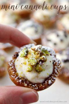 Mini Cannoli Cups by Jamie @ Love Bakes Good Cakes
