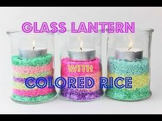 Glass Lantern with Colored Rice - Home Decoration - Fast & Easy Tutorial...
