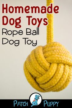 DIY Monkey Fist Dog Toy – How to Make a Rope Ball Dog Toy Hundespielzeug – Rope Ball Hundespielzeug – Monkey Knot Explosion! Diy Rope Toys For Dogs, Monkey Fist Knot, Homemade Dog Toys, Dog Toy Storage, Toy Monkey, Best Dog Toys, Interactive Dog Toys, Dog Crafts, Toy Puppies