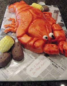 Crawfish Cake for a crawfish boil.  by sarahscakes, via Flickr