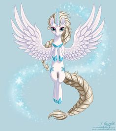 Queen Elsa the Alicorn by LaurenMagpie.deviantart.com on @deviantART