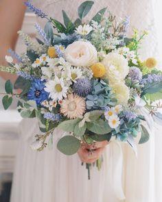 Prom Flowers, Spring Wedding Flowers, Love Flowers, Wedding Bouquets, Wedding Images, Diy Wedding, Dusty Blue Weddings, Blue Bouquet, Tissue Paper Flowers