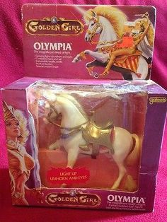 Vintage Golden Girl and the Guardians of the Gemstones 1984 Olympia Unicorn