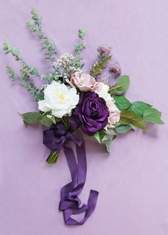 Shop white silk flowers, like this beautiful white rose stem for your wedding bouquets and centerpieces. White Tall x Bloom Silk Take a Peek at All White Artificial Roses Plum Wedding, Purple Wedding Flowers, Purple Bridesmaid Bouquets, Wedding Bouquets, Silk Roses, Silk Flowers, Moss Wedding Decor, Olive Green Weddings, White Rose Bouquet