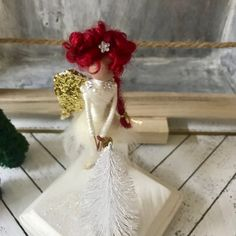 Your place to buy and sell all things handmade Christmas Decorations To Make, Christmas Crafts, Christmas Ornaments, Craft Projects, Craft Ideas, Fairy Crafts, Clothespin Dolls, Wooden Dolls, Fairy Dolls