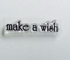 New for Scrapbooking and Rubber stamping Clear Acrylic Stamp By Fiskars Word # 5 Make a Wish by YourScrapbookingShop on Etsy