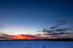 Cold Sunset in Frisco, Texas | 12-26-12 | Clouds 365 Project - Photography by Kelly DeLay