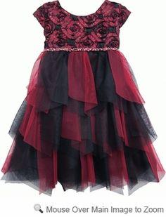 65bfee171774f Isobella   Chloe Girls Desert Fire Cap Sleeve Dress - Red Girls Party  Dress