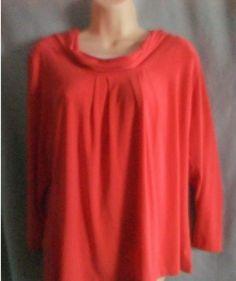 womens blouse XL orange pullover #SagHarbor #pullover #Career