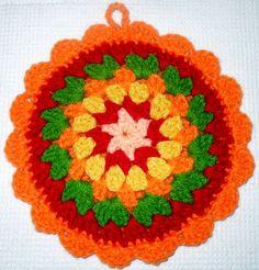 Agarraderas Mandala - Crochet - Tejidos de Punto - 133366