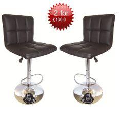 Special Offer!!Blenheim High back Bar Stools in Black,2 for £130