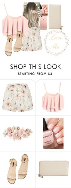 """""""Untitled #3524"""" by hannahmcpherson12 ❤ liked on Polyvore featuring Haute Hippie, Accessorize, Rachel Zoe and Kate Spade"""