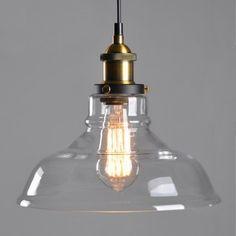 E27 de vidrio ámbar de la lámpara de techo de montaje de sombra retro del…
