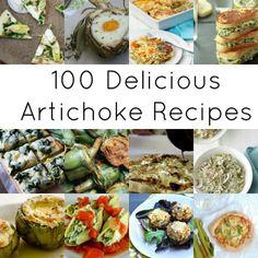 100 delcious artichoke recipes via thegrantlife. Because artichoke season is upon us  who doesnt love artichokes...