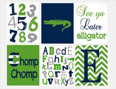 Nursery Print  Alligator Nursery  Pottery Barn by ArdenRaeDesigns, $35.00