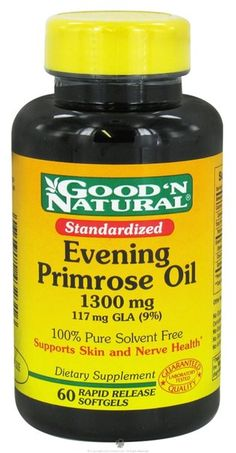 I'm learning all about Good 'n Natural Evening Primrose Oil 117 Mg Gla 9 1300 mg at @Influenster!