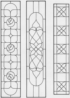 Sidelights, Fanlights and Transoms Stained Glass Pattern Book More