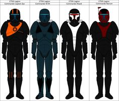 """The Commando Squad of the 275th legion, also known as the """"Fallen Souls"""" or """"Lost Commandos"""", were a 4-men strong Troop of Special Trained Clone Soldiers during the Clone Wars. They all suffered fr..."""