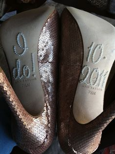 DIY Deets - I Do Shoe Stickers  :  wedding diy santa cruz shoes Web018 web018