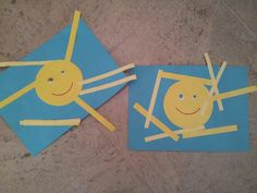 Terrific Theme is summer season Crafts, examples, and inspiration for infants, toddlers and pre-schoolers - Mamaliefde. Valentine's Day Crafts For Kids, Toddler Art Projects, Summer Crafts, Summer Art, Summer Kids, Diy For Kids, Summer School, Preschool Crafts, Fun Crafts