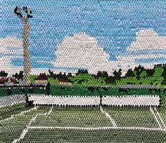 Painting, looks like stitching by Caroline Larsen